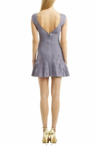 Herve Leger Sleeveless Fitted Flare Bottom Short D Angle3