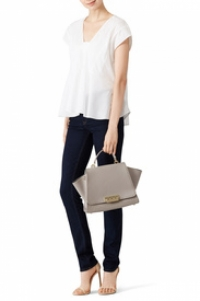 Zac Posen Gold studded handbag - missing handles Angle3