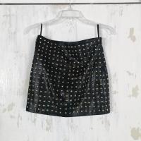 New Nicole Miller Atelier Studded Leather Skirt Angle1