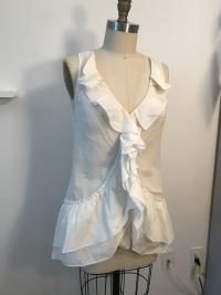 White Cotton Diane Von Furstenberg  sleeveless shi Angle6