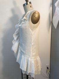 White Cotton Diane Von Furstenberg  sleeveless shi Angle2