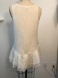 White Cotton Diane Von Furstenberg  sleeveless shi Angle3