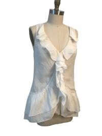 White Cotton Diane Von Furstenberg  sleeveless shi