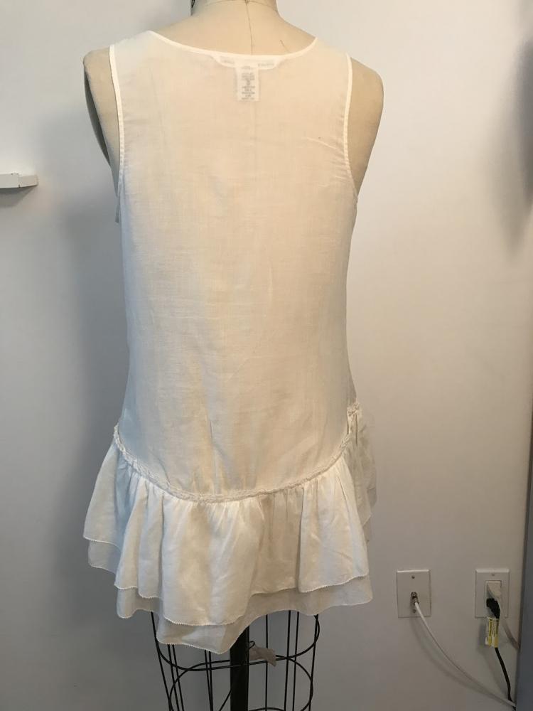 White Cotton Diane Von Furstenberg  sleeveless shi