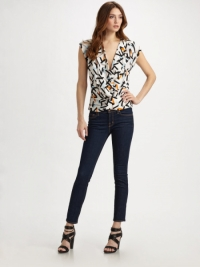 Silk patterned Diane Von Furstenberg blouse