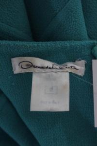 Oscar De La Renta Teal Blue Dress Angle2