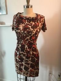 Escada Printed Dress Angle2