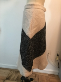 ADAM Adam lippes beige gray print wool mohair  A-L Angle5