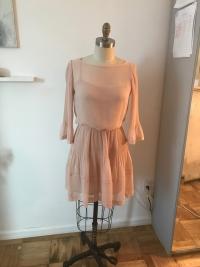 Soft pink Maje flowy Dress Angle4