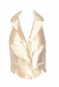 Blumarine Gold Fitted Vest Angle1
