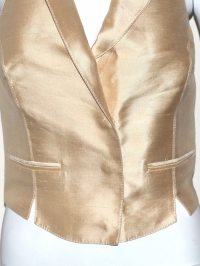 Blumarine Gold Fitted Vest Angle2