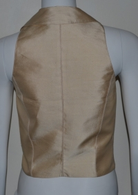 Blumarine Gold Fitted Vest Angle3