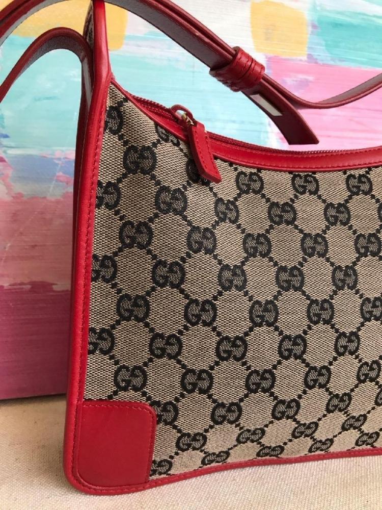 Sweet Apple Red Leather Gucci Handbag