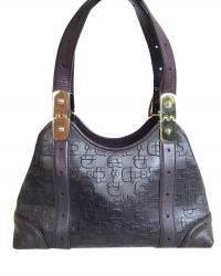 Purple Gucci print embossed leather Angle1