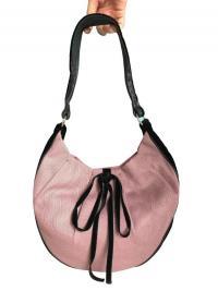 YSL Pink canvas with leather trim shoulder bag
