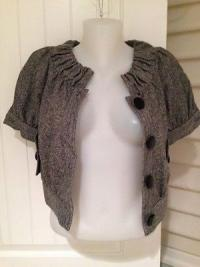 Tibi gray tweed cropped Jacket NWOT Angle4