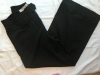 Stella McCartney gray wool cropped leg carpri dres Angle3