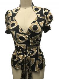 Diane Von Furstenberg  cap sleeve silk blend wrap