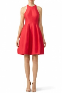 Princess flare striking red dress