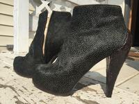 3.1 Phillip lim pony hair and snakeskin booties Angle3