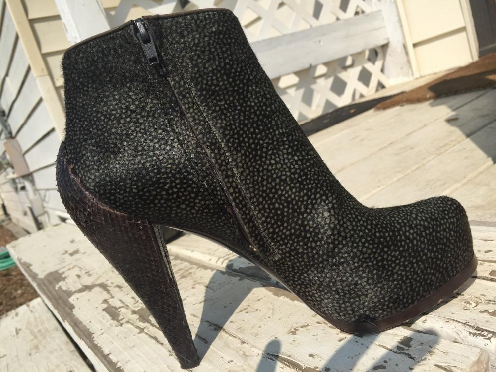 3.1 Phillip lim pony hair and snakeskin booties