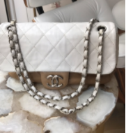 Chanel two tone flap