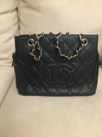 Chanel caviar in navy blue