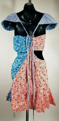 Rosie Assoulin Floral Half Mini Dress Angle4