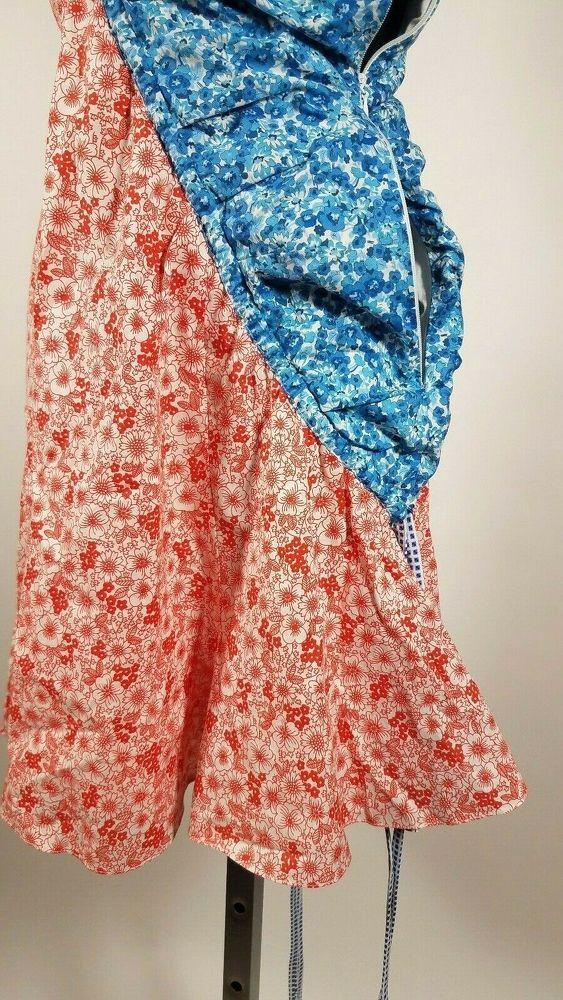 Rosie Assoulin Floral Half Mini Dress