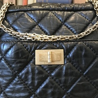 Chanel Aged Calfskin 2.55 Reissue Lrg Camera Case Angle2
