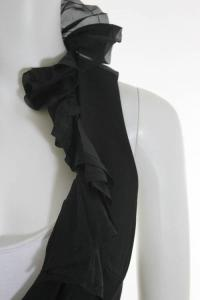 Black Ruffle Vest Angle2