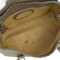 Authentic FENDI Grayish leather handbag Angle5