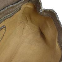 Authentic FENDI Grayish leather handbag Angle6