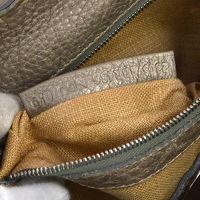 Authentic FENDI Grayish leather handbag Angle2