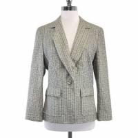 Herve Leger Paris Wool Blend Tweed Blazer