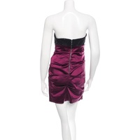 Sequin & Satin Strapless Ruched Mini Dress Angle3