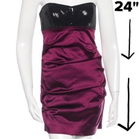 Sequin & Satin Strapless Ruched Mini Dress Angle7