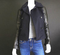 A.L.C wool and leather moto jacket Angle4