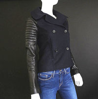 A.L.C wool and leather moto jacket Angle3