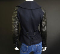 A.L.C wool and leather moto jacket Angle2