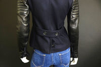 A.L.C wool and leather moto jacket Angle9