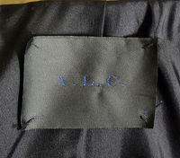 A.L.C wool and leather moto jacket Angle10