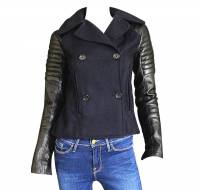 A.L.C wool and leather moto jacket