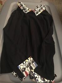Alice & Olivia Black Multi-Color Long Sleeve Top