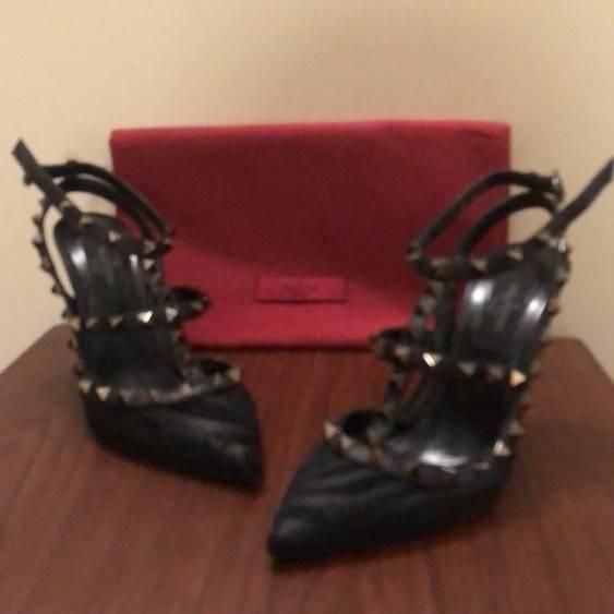 Valentino Rockstud Pony Hair Heels
