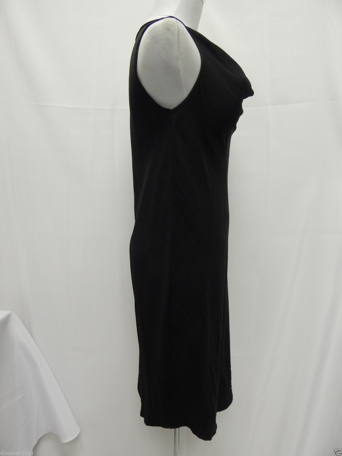 Silk On Shoulder Draped Cowl Neck Dress