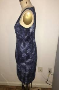 Michael Kors abstract print shift dress Angle2