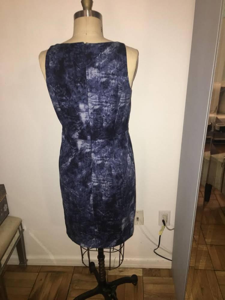 Michael Kors abstract print shift dress