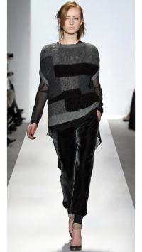 Gray Velour Silk Piping Drawstring Lounge Pants Angle3