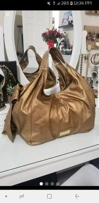 Metallic Gold Valentino Nuage Bow Angle5